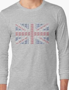 Bike Flag United Kingdom (Small) Long Sleeve T-Shirt