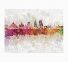 Bangalore skyline in watercolor background Kids Tee