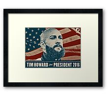 Tim Howard Framed Print