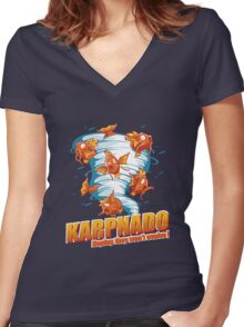 KARPNADO! (hoping they won't evolve…) Women's Fitted V-Neck T-Shirt