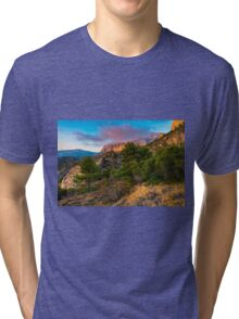 The peak and the cloud at sunset Tri-blend T-Shirt