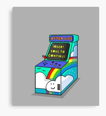 AFTER LIFE its not a game Canvas Print