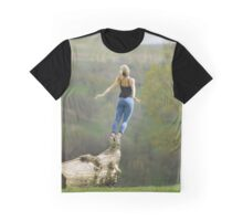 Woman trying to fly Graphic T-Shirt