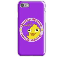 Ducky Momo hates people  iPhone Case/Skin