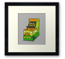 LIFE its not a game Framed Print