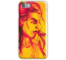 Colorful delicate watercolor portrait of girl iPhone Case/Skin
