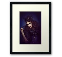 gothic dark woman Framed Print