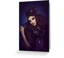 gothic dark woman Greeting Card