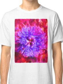 Surreal Blue Flower Classic T-Shirt