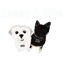 Chewy and Kiba by barkleys-studio