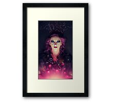 abstract female portrait Framed Print