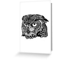 Owl face Greeting Card