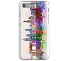 Guadalajara skyline in watercolor background iPhone Case/Skin