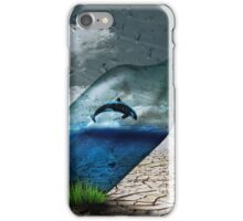 Dolphin in a Bottle iPhone Case/Skin