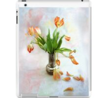 Colorful Tulips in an Antique Silver Pot iPad Case/Skin
