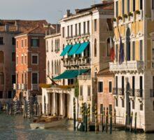 Gondolas and Palaces, Grand Canal, Venice, Italy Sticker