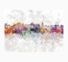 Jaipur skyline in watercolor background Kids Tee