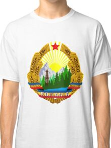emblem of romania high resolution Classic T-Shirt