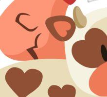 Happy Cow, Pig, and Chicken Sticker