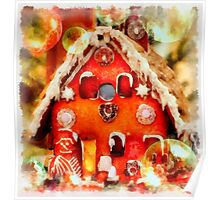 Christmas Gingerbread House Poster