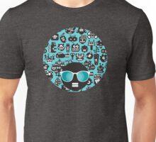 Robots faces blue Unisex T-Shirt