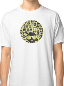 Robots faces green Classic T-Shirt