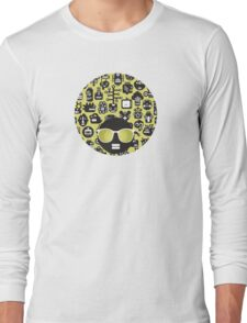 Robots faces green Long Sleeve T-Shirt