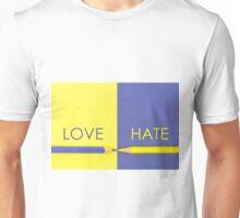 Love versus Hate contrast concept Unisex T-Shirt