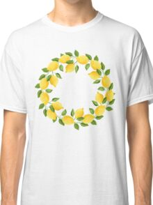 Watercolor Lemon Pattern Classic T-Shirt