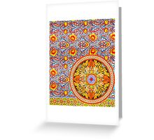 Buddhist Temple Painting Greeting Card