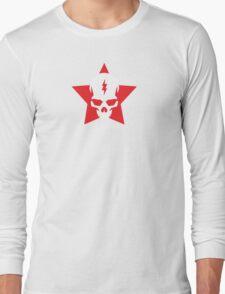 SkullStar WhiteRed Logo Long Sleeve T-Shirt