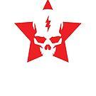 SkullStar WhiteRed Logo by Adam Nichols