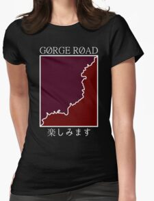 gorge road retro Womens Fitted T-Shirt