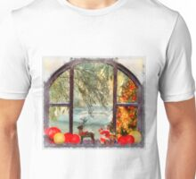 Christmas Window Unisex T-Shirt