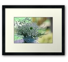 *Daisies and Baby's Breath* Framed Print