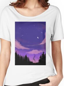 Camping  Under The Stars Women's Relaxed Fit T-Shirt