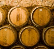 Oak Wine Barrels, Chianti, Italy Sticker