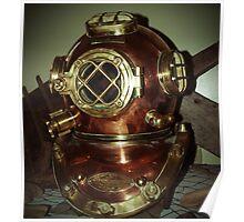 Vintage Diving Helmet Poster