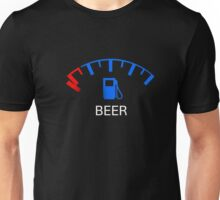 Beer Low Tank Almost Empty Gauge Funny Drinking Shirt Unisex T-Shirt