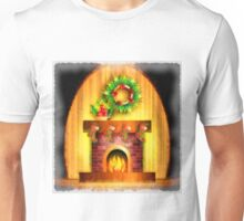 Christmas Fireplace Unisex T-Shirt