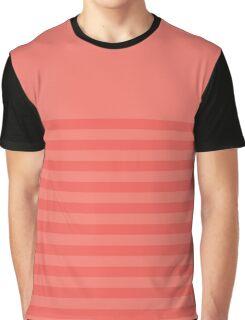 Retro Inspired Striped Peach Echo Spring 2016 Graphic T-Shirt