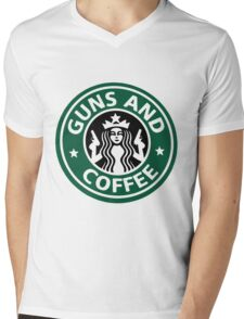 guns and coffee RC Mens V-Neck T-Shirt