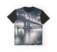 manhattan bridge on the night Graphic T-Shirt