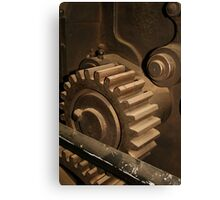 Vintage Cog in the Machine by patjila Canvas Print