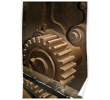 Vintage Cog in the Machine by patjila Poster