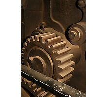 Vintage Cog in the Machine by patjila Photographic Print
