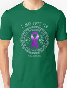 Wear Purple For Lupus Awareness Ribbon T-Shirt Support Tee Unisex T-Shirt