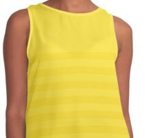 Retro Inspired Striped Butter Cup Spring 2016 Contrast Tank