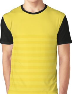 Retro Inspired Striped Butter Cup Spring 2016 Graphic T-Shirt