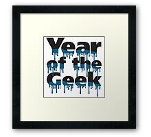 Year of the Geek (Black) Framed Print